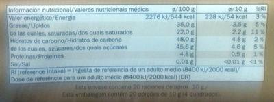 Chocolat Noir Dessert - Información nutricional - es