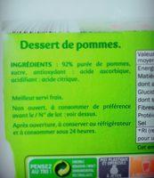Compotes de Pomme - Ingrediënten - fr