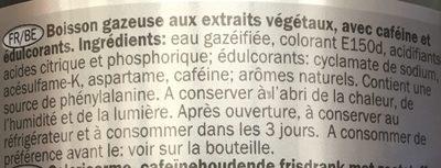 Cola light - Ingredients - fr