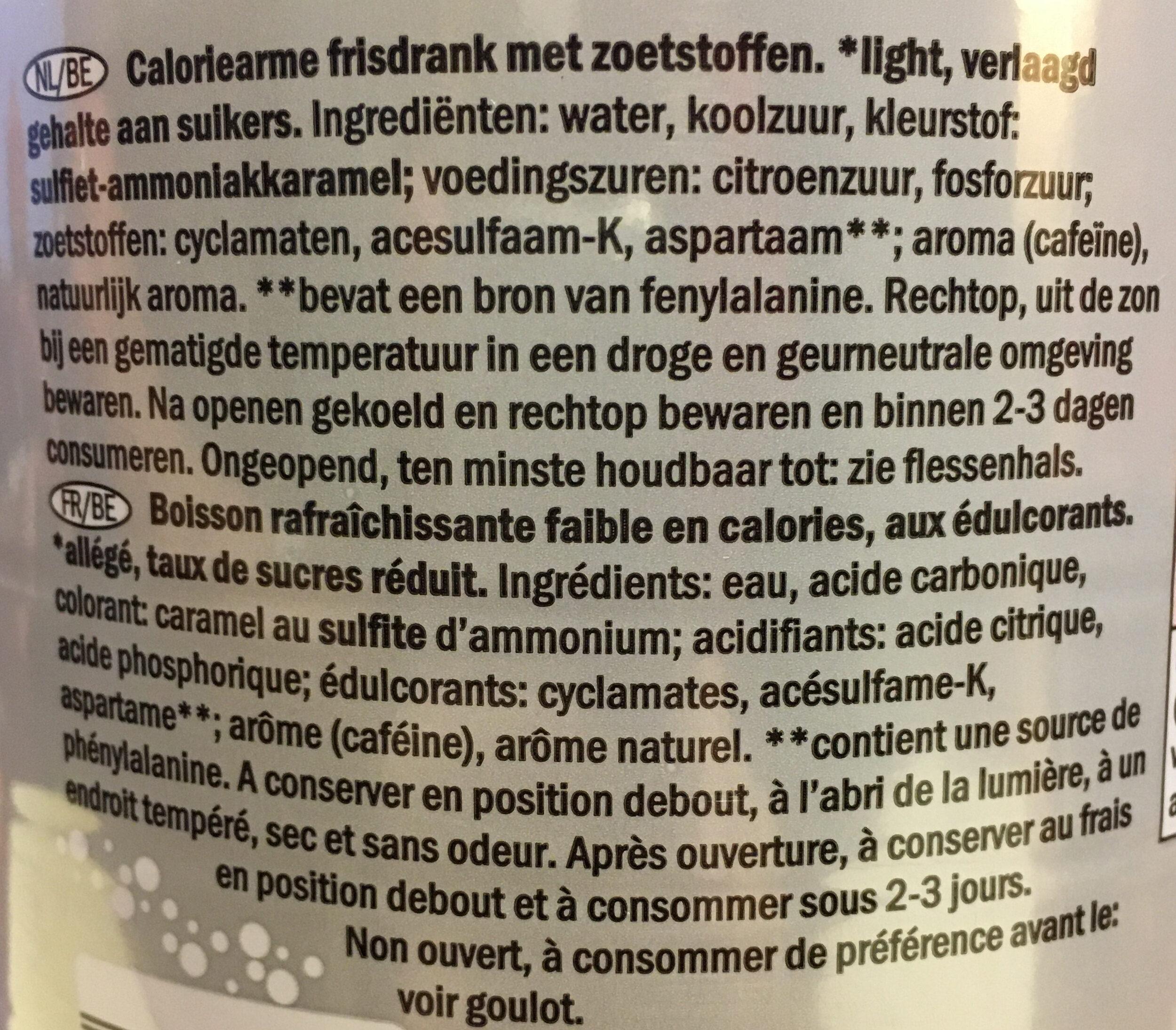 Cola light - Ingrediënten