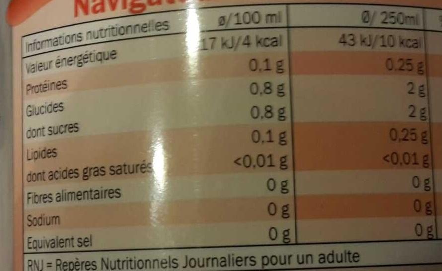 Cola light - Nutrition facts - fr