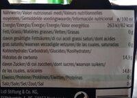 "Aperitivo sin alcohol ""Rosso"" - Voedingswaarden - fr"