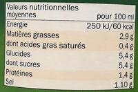 Sauce Tomate Cuisinée aux légumes - Nutrition facts