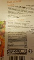 Caffe crema - Informations nutritionnelles - fr