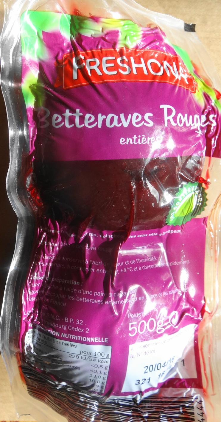 Betteraves rouges, entières, cuites à la vapeur - Product
