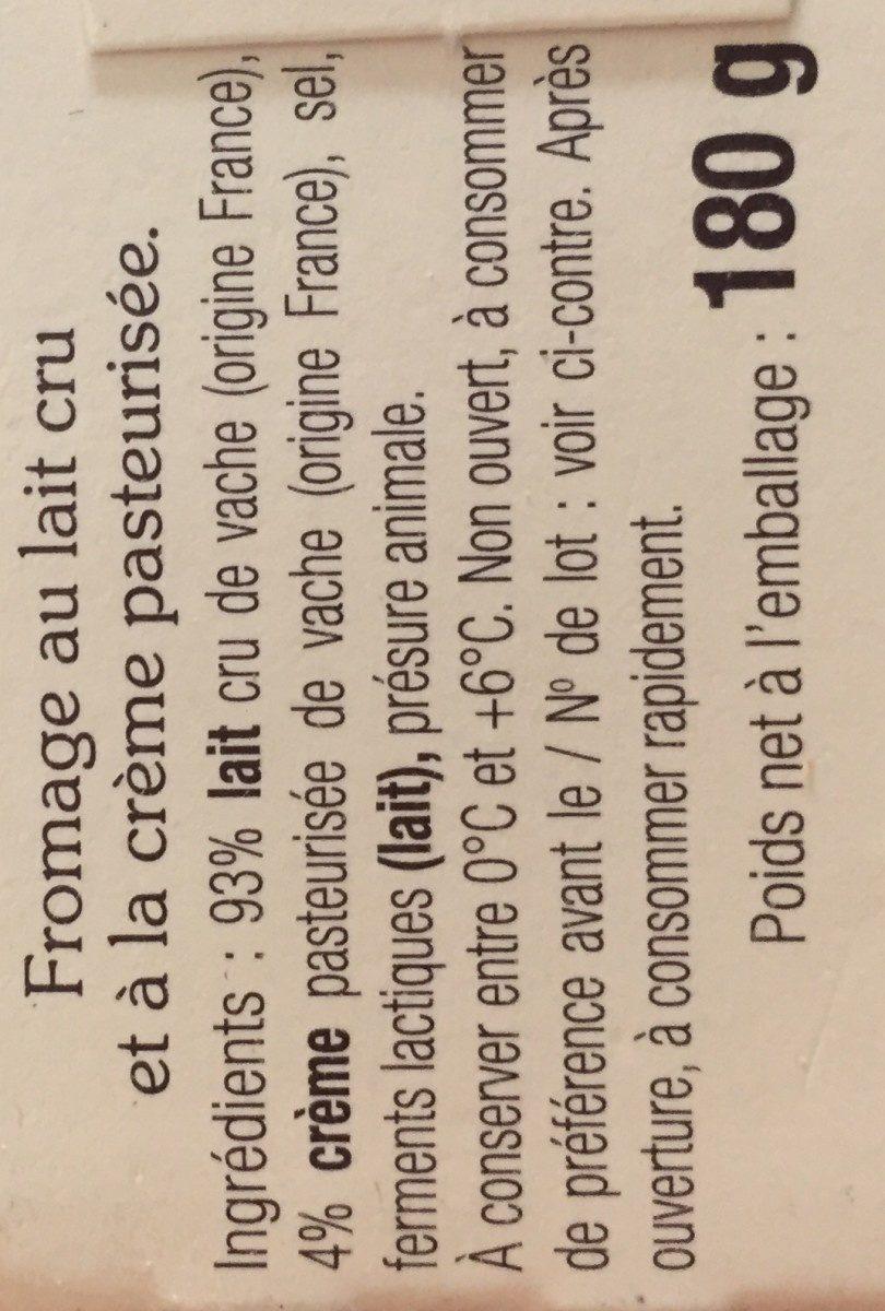 Saint-Félicien - Ingrédients