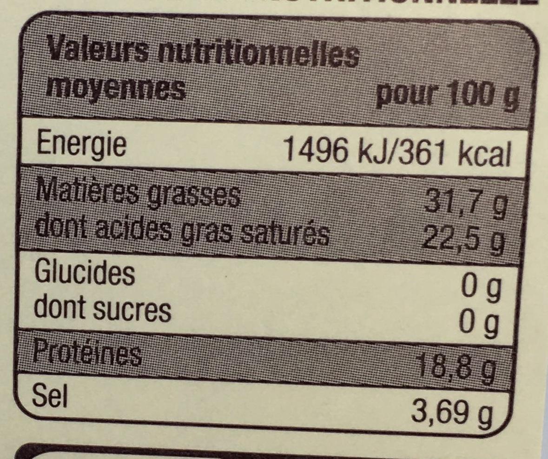 Roquefort (31,7% MG) - Voedingswaarden
