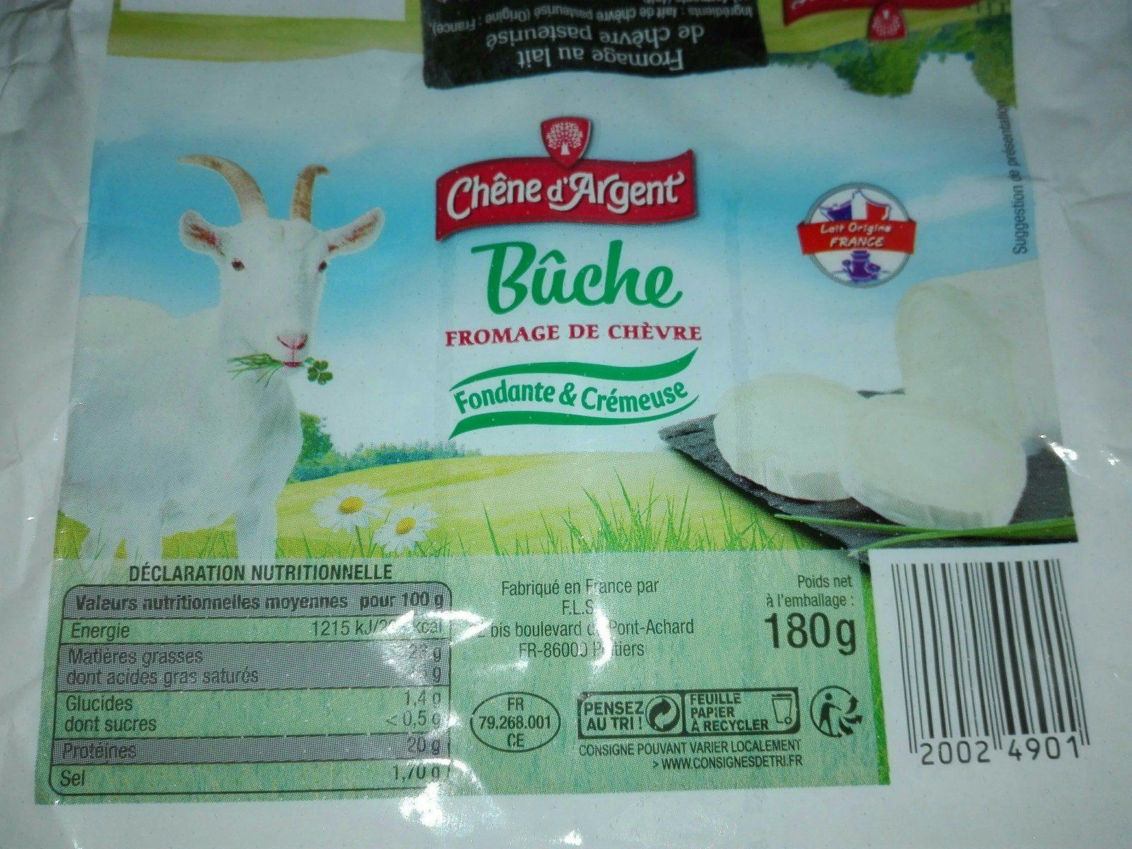 Bûche fromage de chèvre - Ingredientes - fr