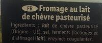 Crottin de chevre - Ingrédients - fr