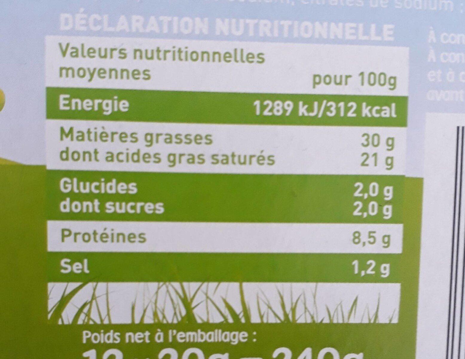 Fromage blanc fondu - Informations nutritionnelles - fr