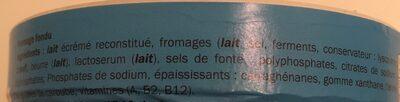 Fromage fondu - Ingrediënten