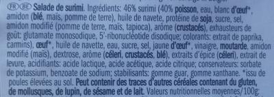Salade de surimi - Ingrediënten