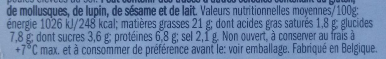 Salade de surimi - Voedingswaarden - fr