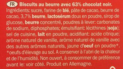 Biscino chocolat noir - Ingredients