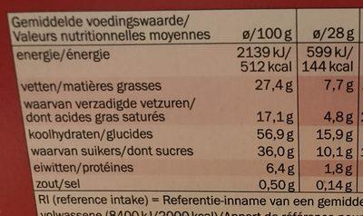 Biscino chocolat noir - Nutrition facts