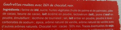 Gaufrettes roulées chocolat noir - Ingrédients - fr