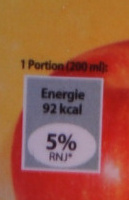 Pur jus de pomme - Nutrition facts