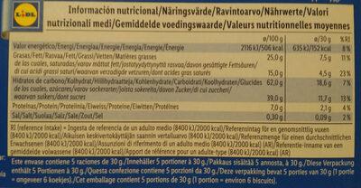 Choco Pouce - Informations nutritionnelles