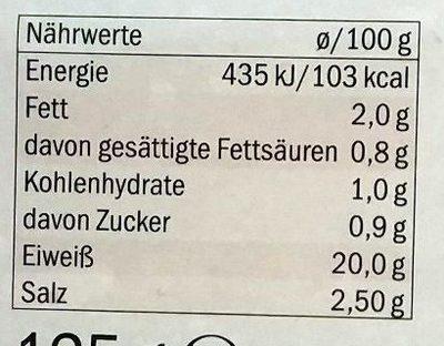 Kitchen Paper Bag - Nährwertangaben - de