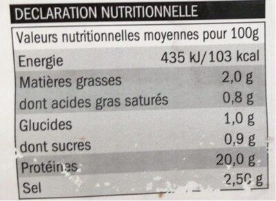 Kitchen Paper Bag - Informations nutritionnelles - fr