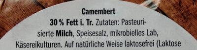 Der kleine Camembert Leicht - Ingrediënten