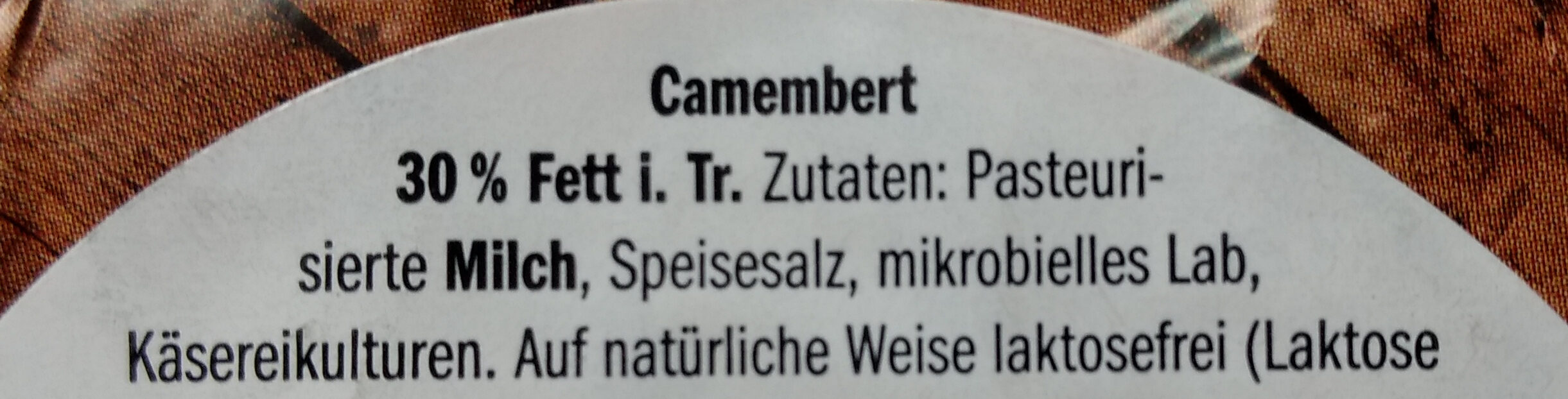Der kleine Camembert Leicht - Ingrediënten - de