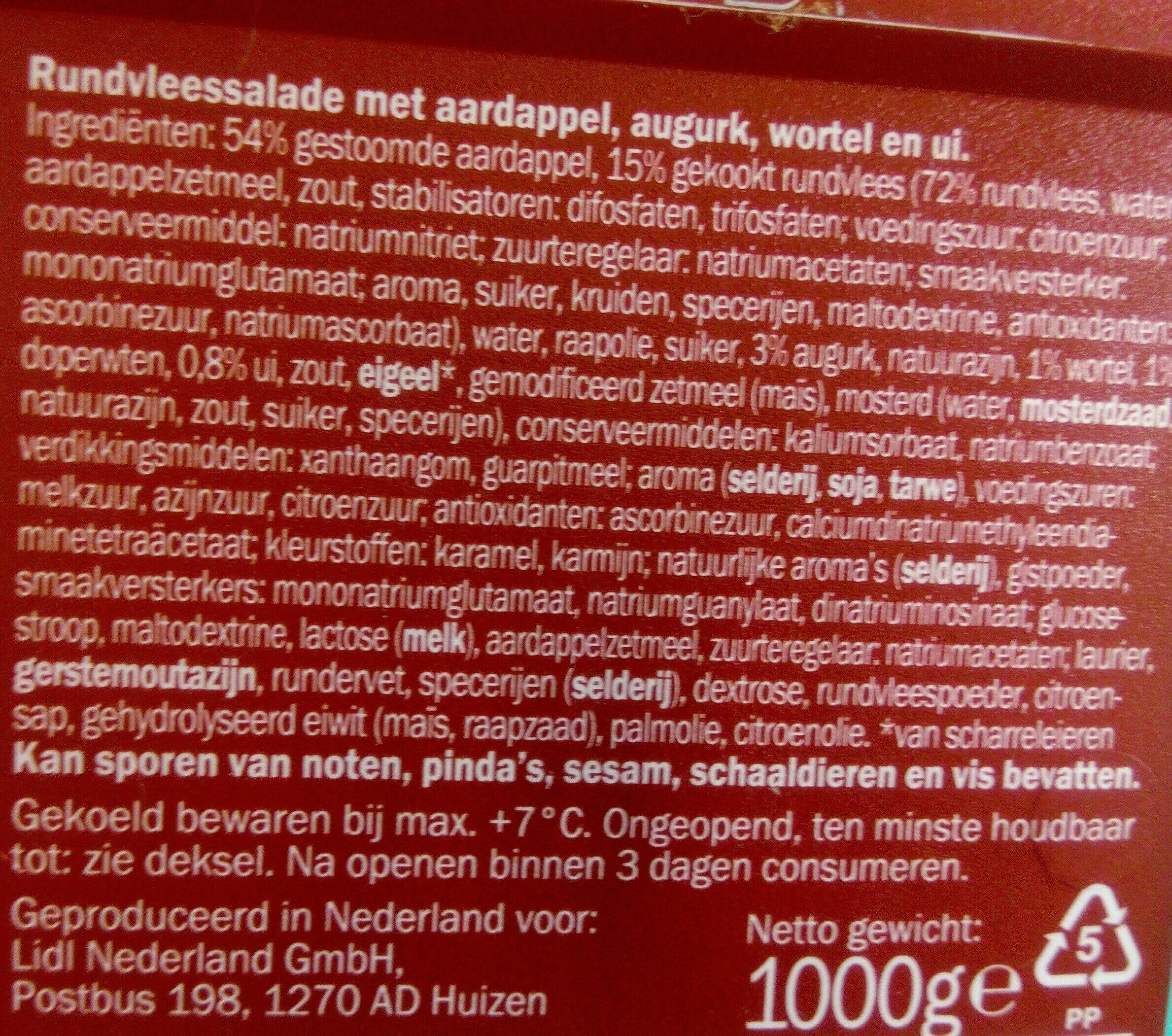 rundvlees salade - Ingredients - en