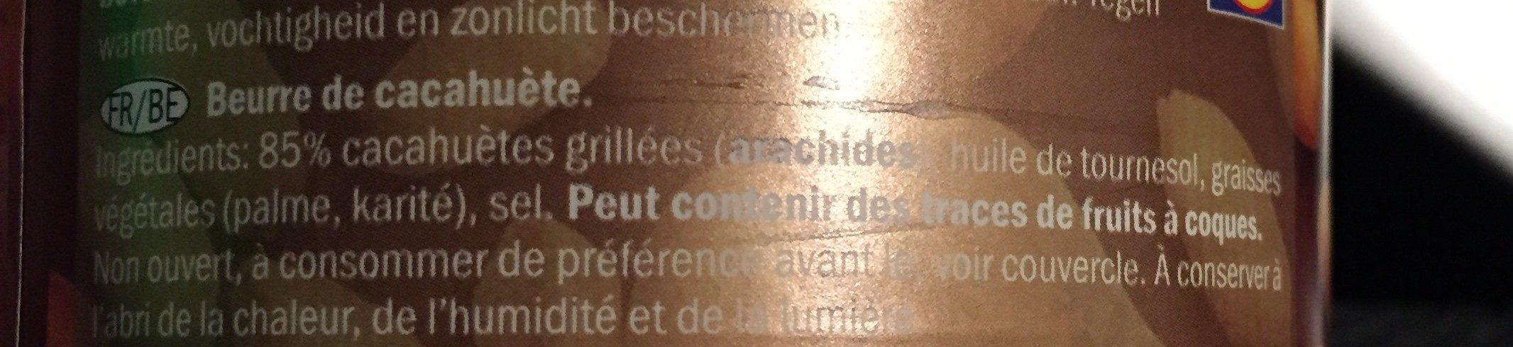 Beurre de cacahuète - Ingrédients - fr