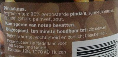 Beurre de cacahuète - Ingrediënten - nl