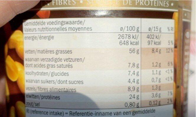 Beurre de cacahuète - Informations nutritionnelles - fr