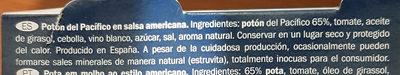 Calamares en trozos en salsa americana - Ingredients