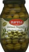 """Aceitunas verdes enteras """"Baresa"""" Variedad Manzanilla - Produit - es"""