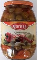 Aceitunas verdes partidas aliñadas a la gazpachaBaresa - Producte