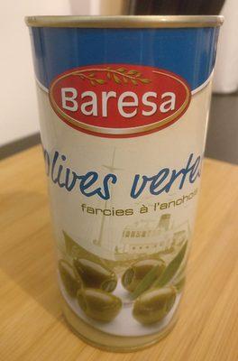 Olives vertes anchois - Produit