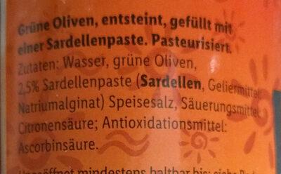 Olives aux anchois - Zutaten - de