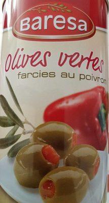 Olives vertes farcies aux poivrons - Produit
