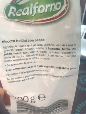 Biscotti, Panna - Ingredients