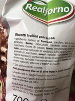 Fior di Cacao e Nocciole - Ingrédients - fr