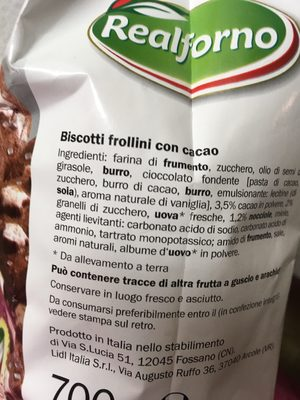Fior di Cacao e Nocciole - Ingredients - fr
