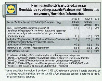 Snackbox - Nutrition facts - en
