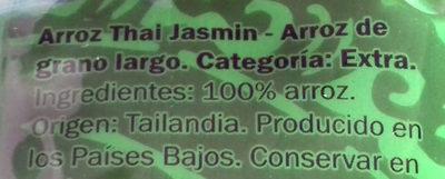 Thai Jasmin - Ingredientes