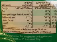 Thai Jasmin Premium Langkorn Reis - Nutrition facts
