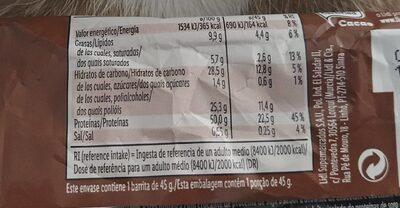 Protein brownie schoko crisp - Nährwertangaben - de