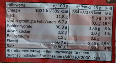 Protein bar - Informations nutritionnelles - de