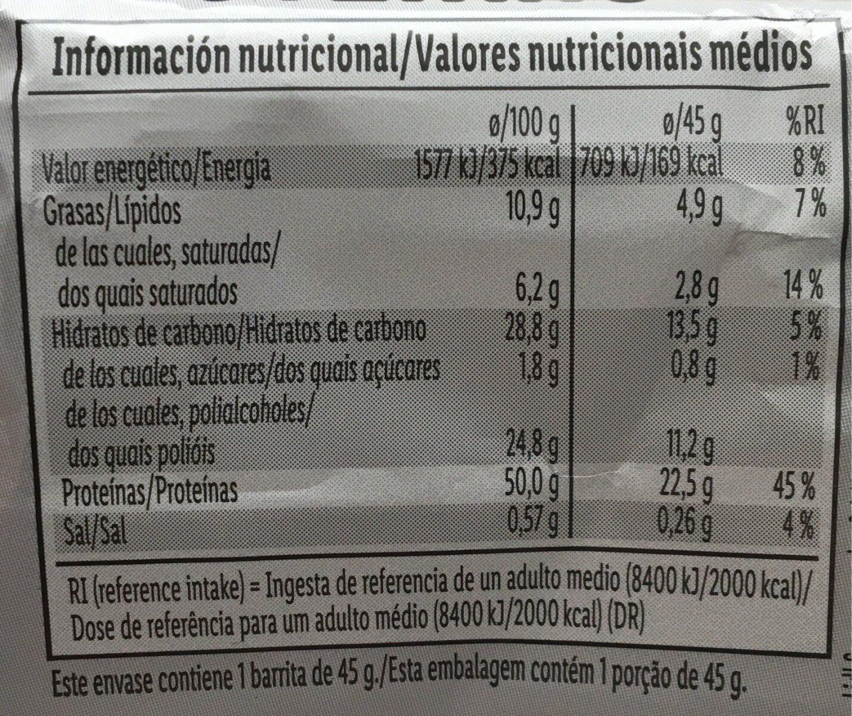 Barre protéines - Informação nutricional - de