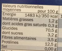 PENNE - Nutrition facts