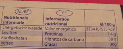 Vollmilch Schokolade am Stiel - Informations nutritionnelles