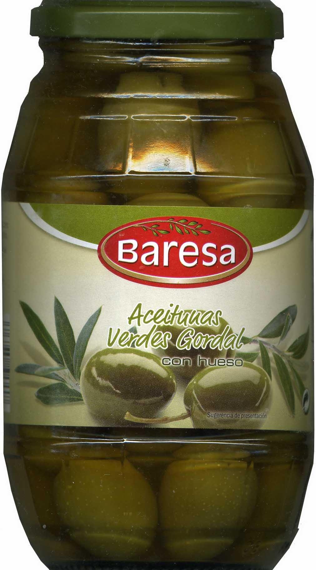 "Aceitunas verdes enteras ""Baresa"" Variedad Gordal - Producte"