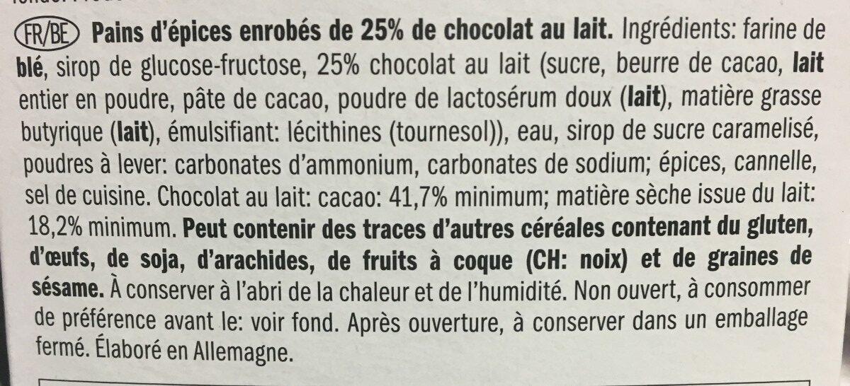 Lebkuchen - Ingredientes - es