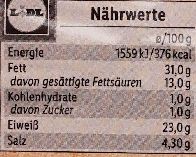 Fein Geräucherte Pfeffersalami - Nährwertangaben - de